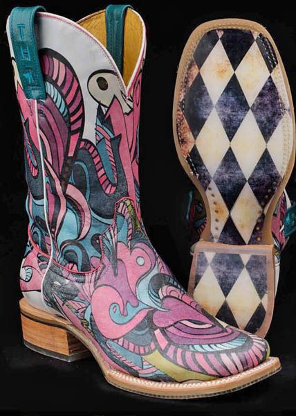 pink cowgirl boots artistic