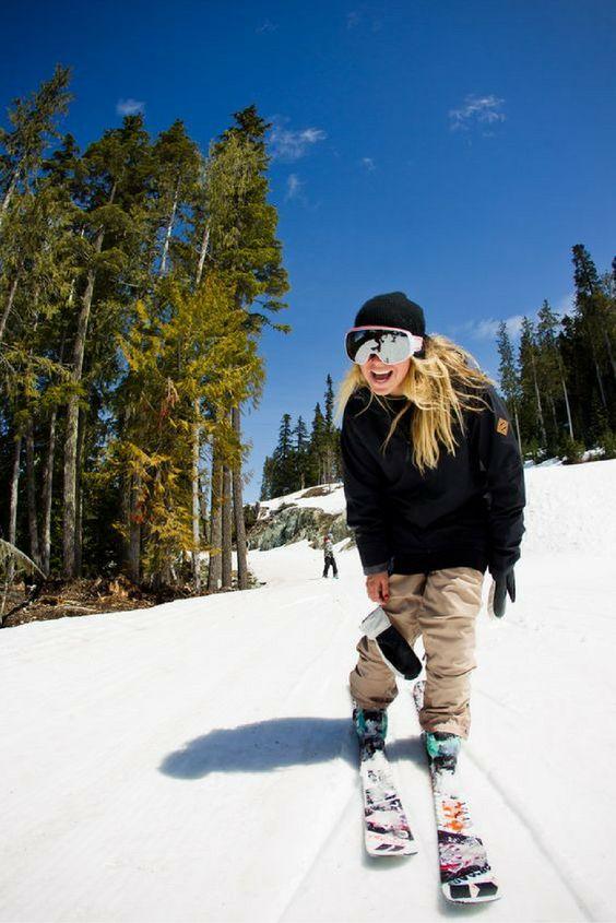 ski pants beige black