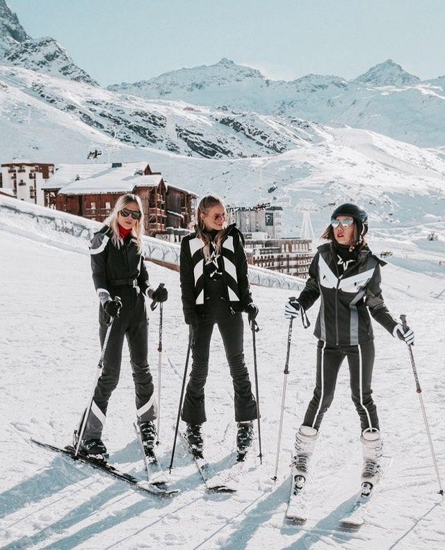 ski pants bloggers black white