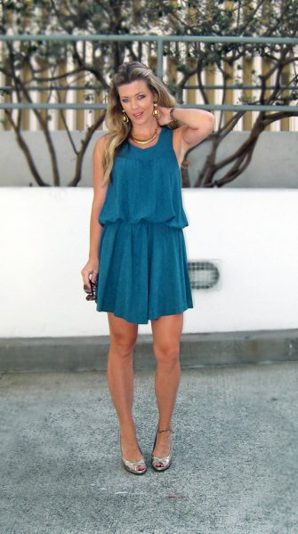 How to Style Dark Teal Dress: 15