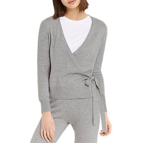 two piece set grey wrap cardigan matching jogger pants