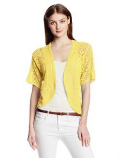 yellow bolero shrug white skinny jeans