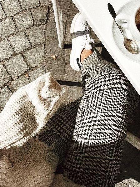 plaid legging sweater