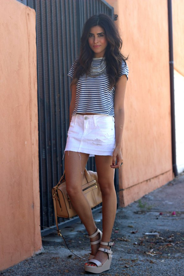 clear-cut texture enjoy discount price search for clearance 15 Refreshing & Stylish White Denim Skirt Outfit Ideas ...