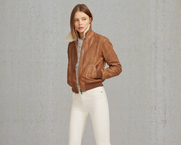How to Style Shearling Bomber Jacket for Women