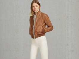 best shearling bomber jacket outfits