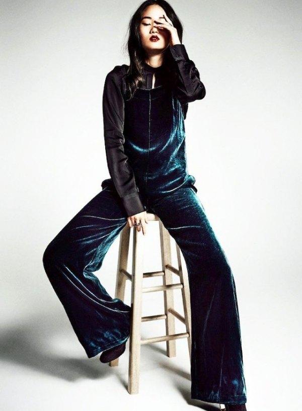 d197d4ac8d62 How to Wear Velvet Jumpsuit  15 Classy Outfit Ideas - FMag.com