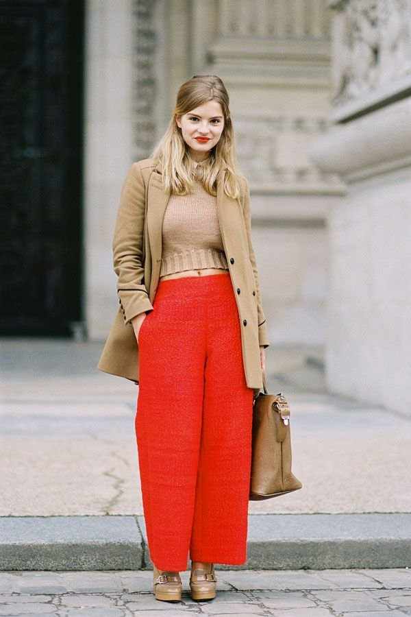 8bf76b010c8 How to Style Red Wide Leg Pants  15 Amazing Outfit Ideas - FMag.com