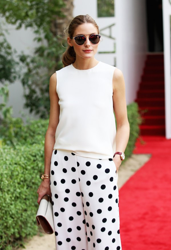 best polka dot pants outfits