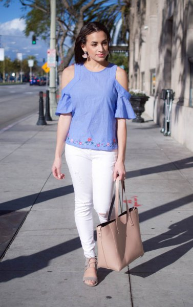 ee6c97f9f5ca98 How to Wear Cold Shoulder Shirt  15 Low-Key Sexy Outfits - FMag.com
