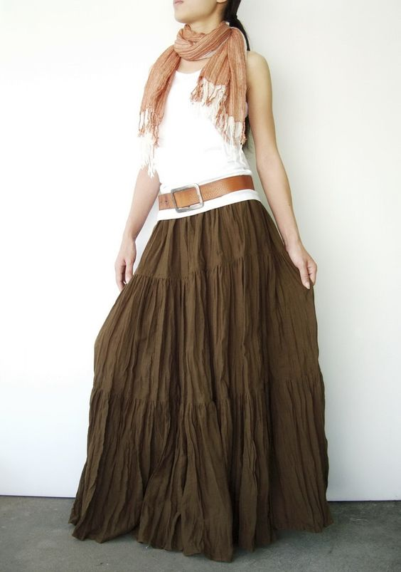 broomstick skirt statement belt