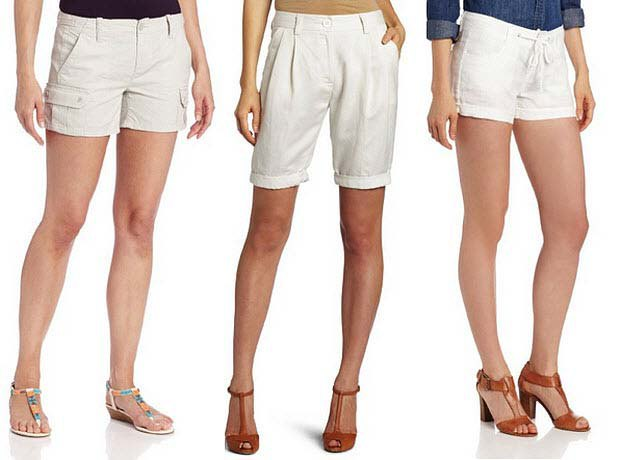 dark blue chambray shirt white mini cargo shorts