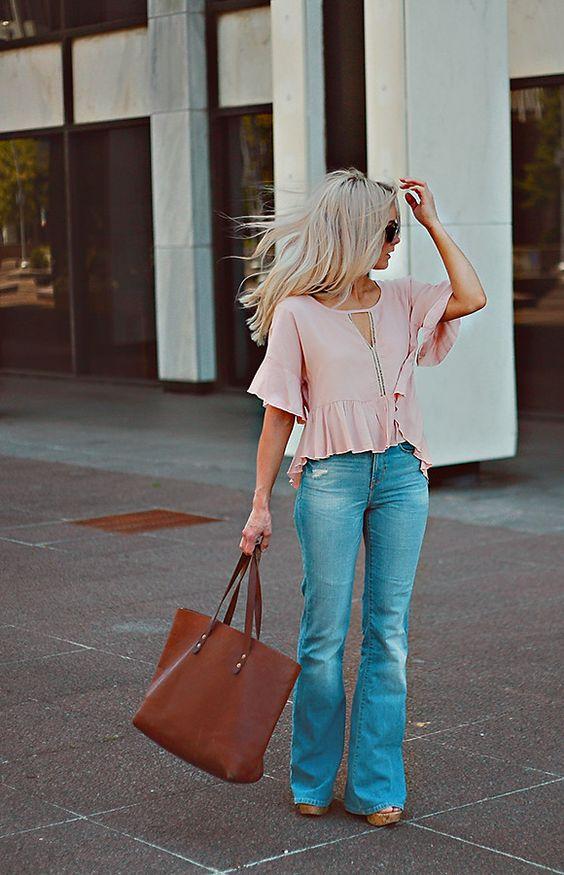 keyhole shirt soft pink