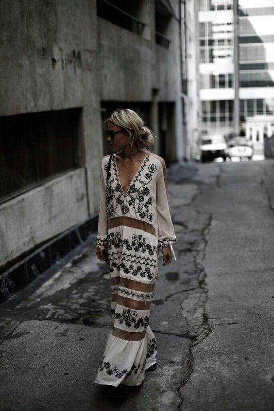 white embroidered dress sheer maxi