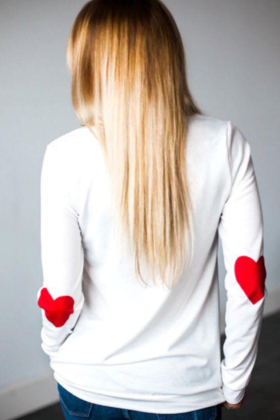 elbow patch shirt heart