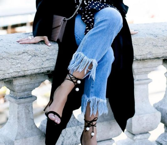 best fringe hem jeans outfit ideas for women