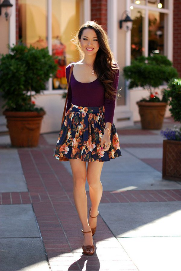 best circle skirt outfit ideas