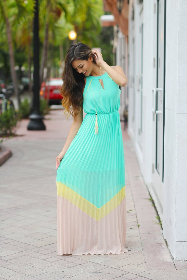 best pleated maxi dress outfit ideas