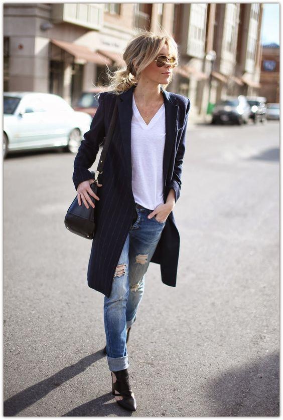black duster coat striped
