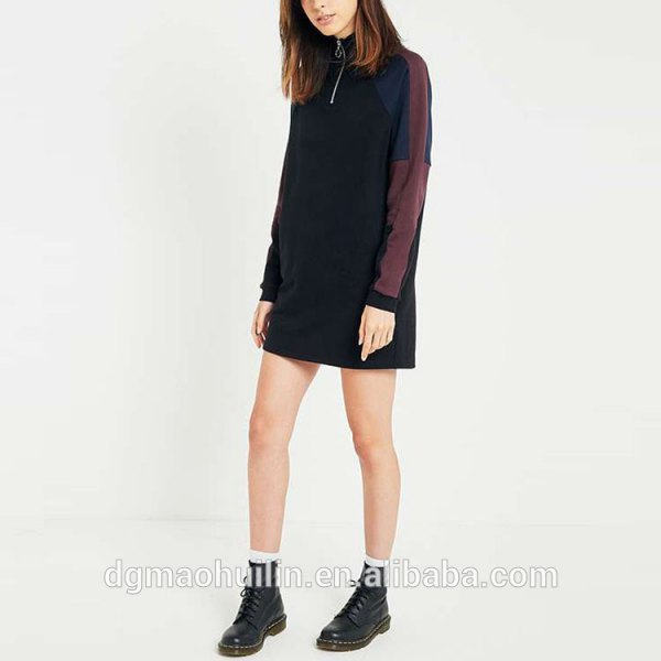 black hoodie dress with combat boots