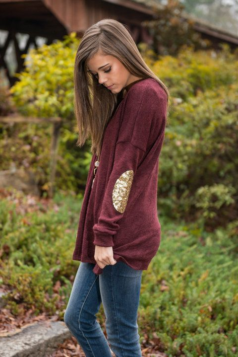 elbow patch shirt gold sequin