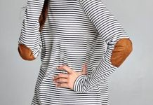 elbow patch shirt stripes