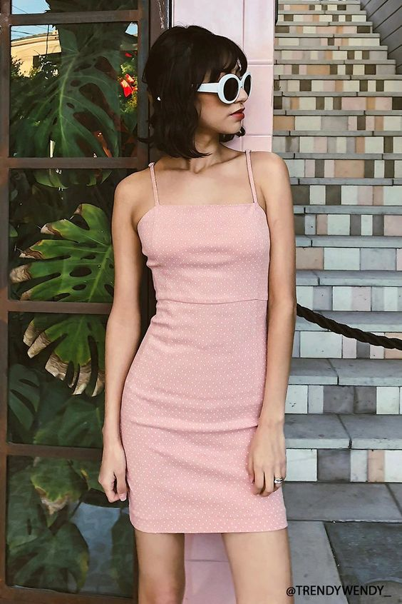 pink sundress retro
