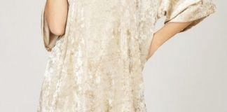velvet tunic gold