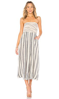 white and grey striped midi relaxed fit tube dress
