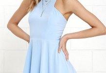 best sky blue dress outfit ideas