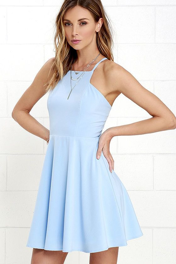 best sky blue dress outfit ideas
