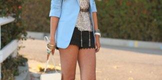 light blue blazer outfit ideas for women