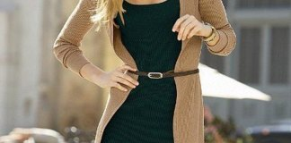 how to style dress with cardigan