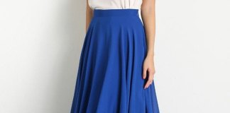 best blue maxi skirt outfit ideas
