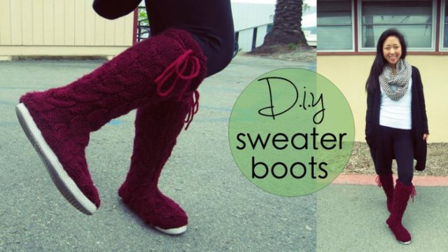 cardigan with skinny jeans and black knee high sweater boots