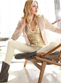 gold deep v neck sequin tank top with white casual suit