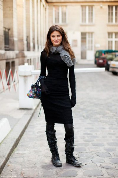 7c8864f314d 15 Attractive Black Sweater Dress Outfit Ideas for Women - FMag.com