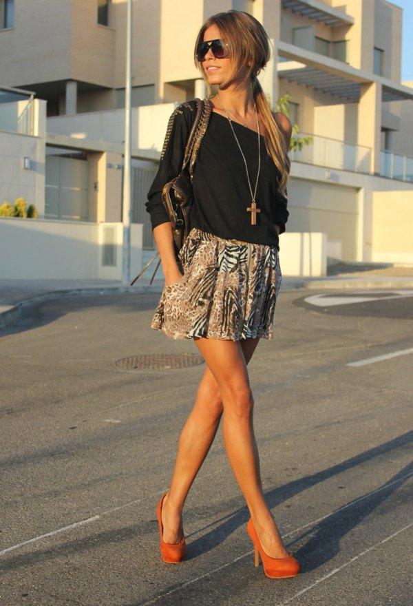 best orange heels outfit ideas