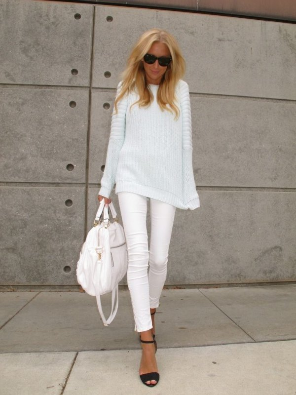best white skinny jeans outfit ideas