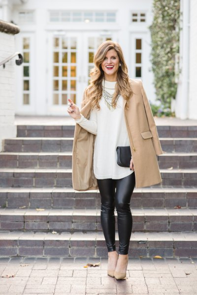 How To Wear Pleather Leggings 15 Super Chic Outfit Ideas