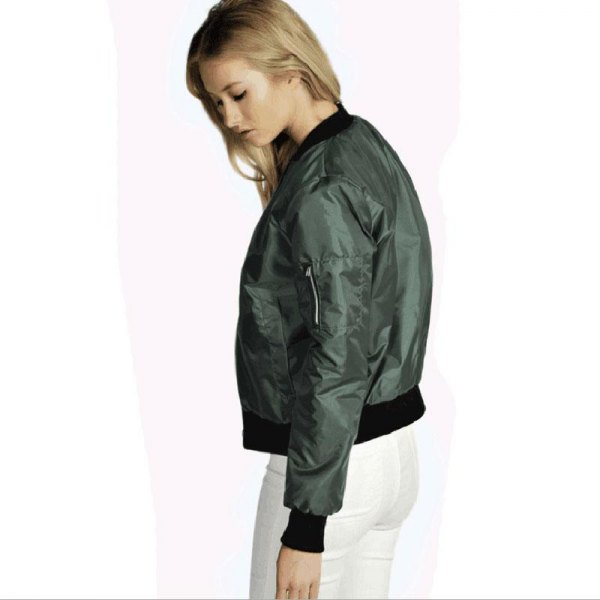 green bomber jacket with white skinny jeans