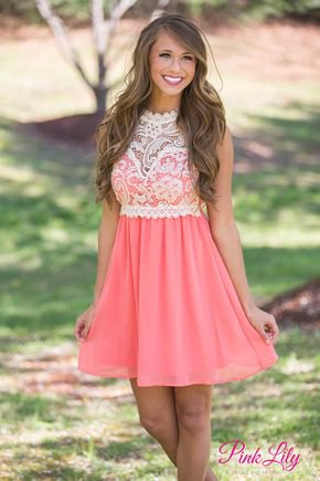 pale yellow and blush pink two toned fit and flare lace mini dress