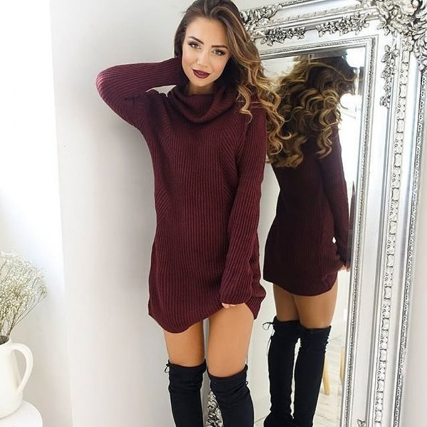 450c0f1937d How to Wear Long Sweater  Top 13 Cozy   Breezy Outfit Ideas for ...