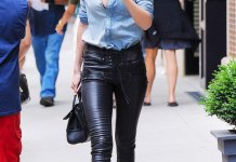 best lace up leather pants outfit ideas