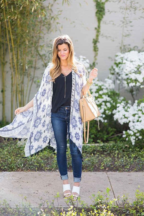 d34cb786c Top 13 Kimono Cardigan Outfit Ideas for Women: Style Guide - FMag.com