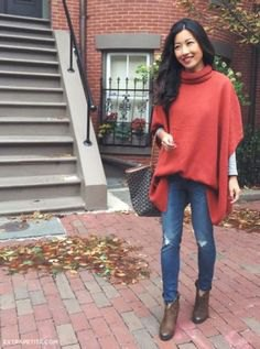 green oversized mock neck poncho sweater with sleeves