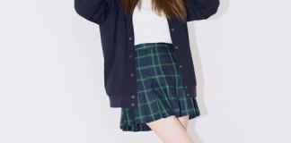 best blue plaid skirt outfit ideas for women