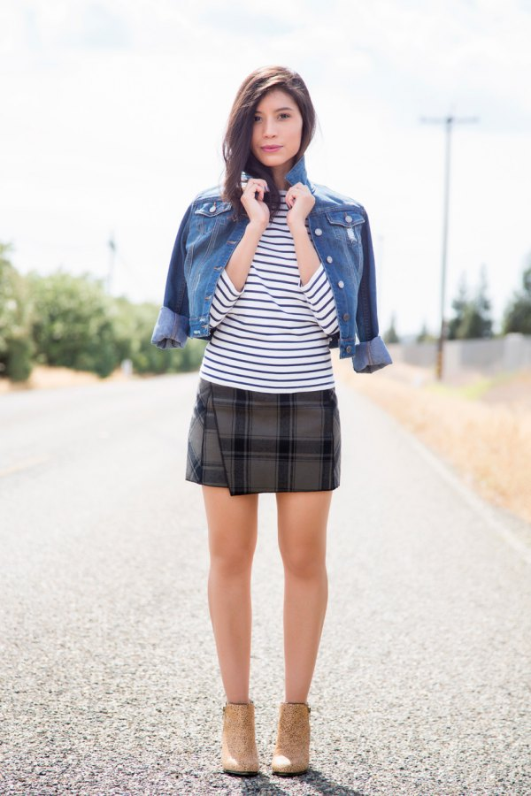 How to plaid a wear skirt photo
