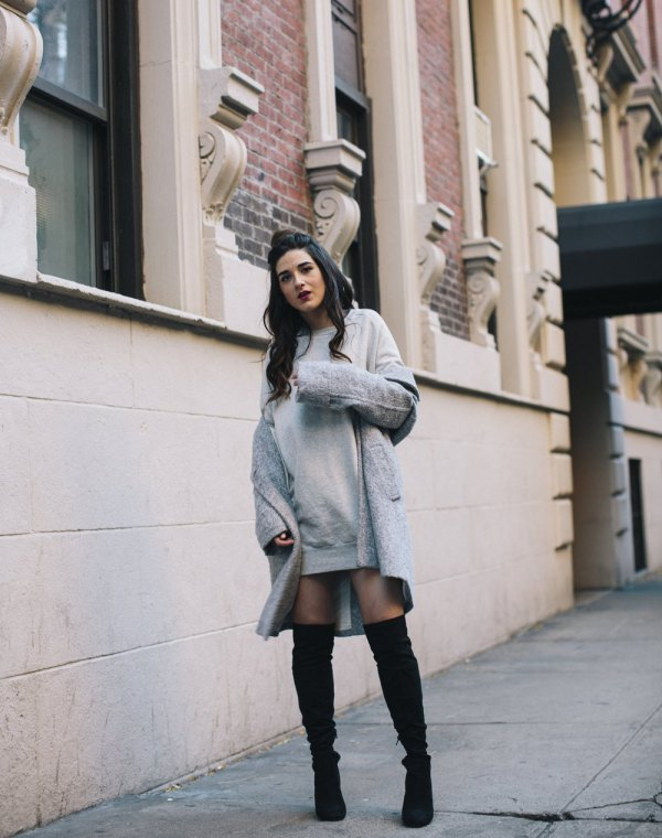 best sweatshirt dress outfit ideas for women