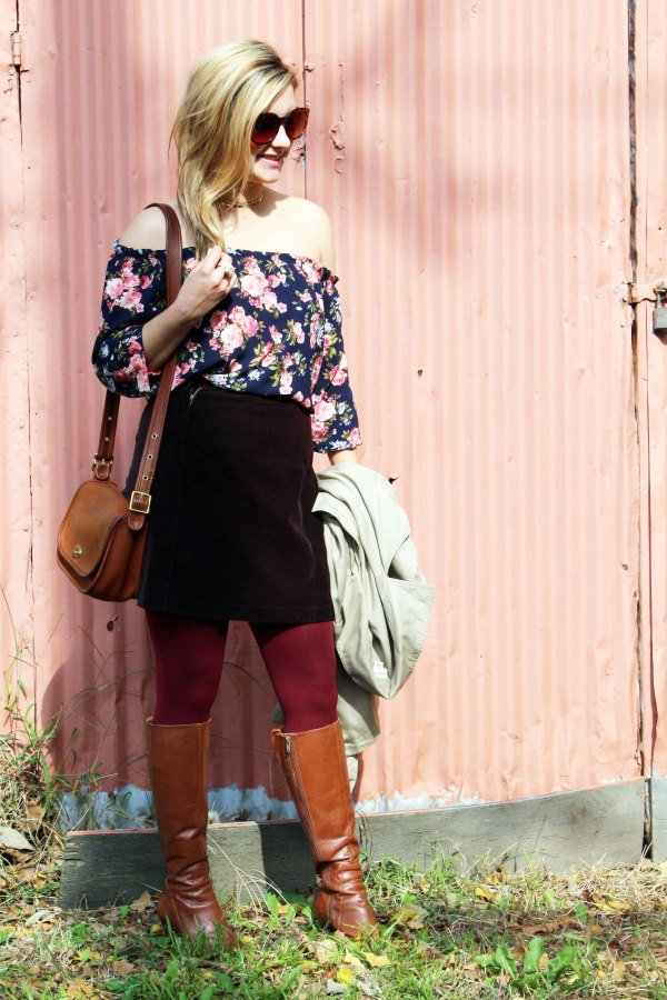 best brown tights outfit ideas for ladies